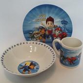 """Детская посуда из керамики """"Щенячий патруль"""""""