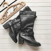 Кожаные сапоги на широкую ногу New Look рр 42