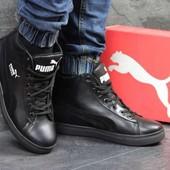 Зимние кожанные кроссовки Puma р 41-45