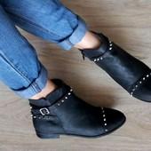 Ботинки с шипами черные ATM 39р/25см Как новые