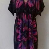 Новое теплое платье с принтом