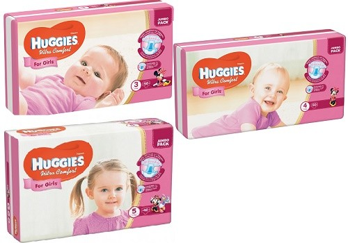 Подгузники huggies ultra comfort для девочек все размеры фото №1