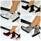 Ботинки   полусапожки гармошка из натуральной кожи  замши  Хит продаж на 8 разных подошвах на выбор