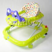 Детские ходунки музыкальная панель тормоз Baby Angel салатовые