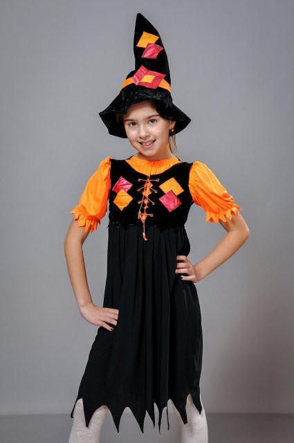 Детские карнавальные костюмы ведьмочка , возраст 4-7 лет фото №1