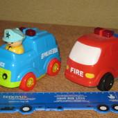 озвученные детские машинки полиция и пожарка