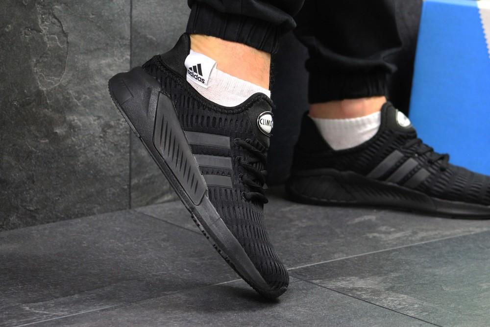 Кроссовки мужские сетка adidas climacool black фото №1