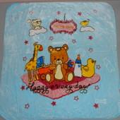 Детское одеяло плед плюш велюр двустороннее 100х105 см