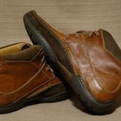 Комбинированные кожаные ботинки Clarks Flexlight Англия 10 1/2 р.