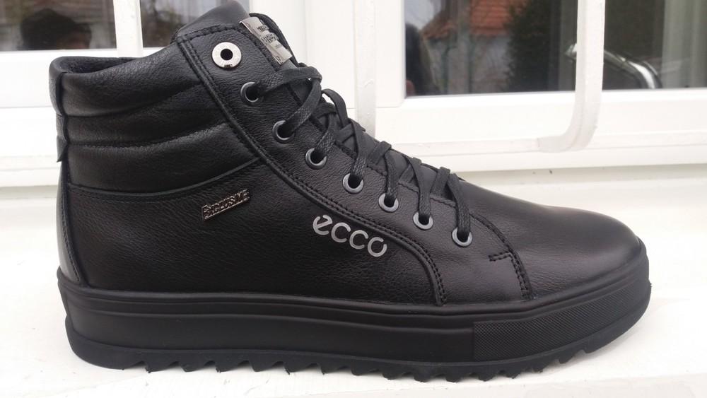 Ботинки зимние, Ecco, натур. кожа, р. 40-45, черн, син, код si-616 фото №1