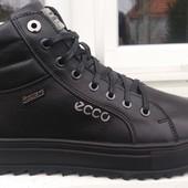 Ботинки зимние, Ecco, натур. кожа, р. 40-45, черн, син, код si-616