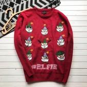 Новогодний мужской свитер Easy рр XL