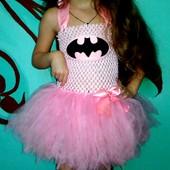 Платье с фатиновой юбкой девушка Бетмена на 1-4года!