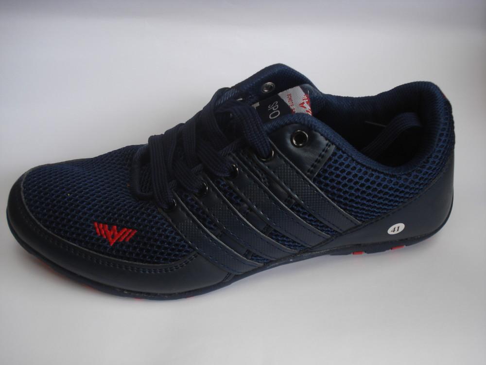 Мужские кроссовки темно синие 41-46р фото №1