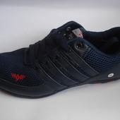 Мужские кроссовки темно синие 41-46р