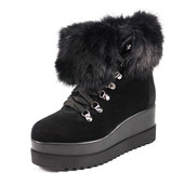 Ботинки зимние женские Foletti FL235 черная замша