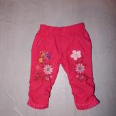 0-6 мес., р. 56-68 узкачи! хорошенькие брюки капри скинни для принцессы