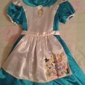 Продам нарядное платье Алиса в стране чудес девочке 5-7лет,рост до 122.Disney.