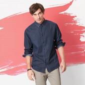 Очень стильная мужская рубашка L 52-54 евро Tchibo Тсм Германия.