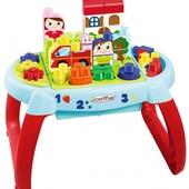Французский конструктор для малышей Ecoiffier abrick Игровой стол Подорож