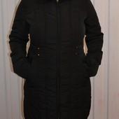 Зимнее пальто на пуху c&a наш 48р длинный пуховик Идеальное состояние