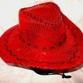 Маскарадная шляпа-ковбойка сверкающая стиль диско