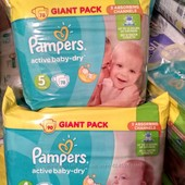 подгузники Pampers Active Baby Dry Giant pack памперсы актив беби