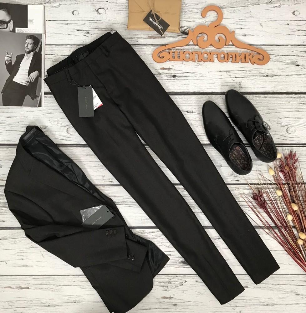Костюмные брюки для настоящего мужчины от zara  pn51183 фото №1