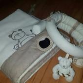 защита в кровать + дуга + подвеска музикальная