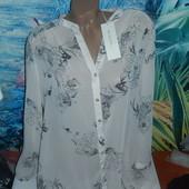 Шикарная блуза р-р 20 на наш 54-56 с интересной спинкой,новая