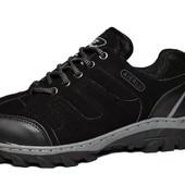 Мужские прошитые кроссовки - черные (F-14)