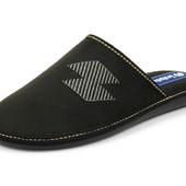 100-VN-2Q-014 . Тапочки мужские домашние Inblu Инблу цвет - черный, размеры 40-46, материал - велюр