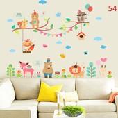 вінілові наліпки  наклейки на стіну стену ветка  животные