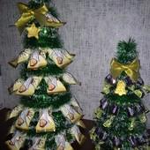 Новогодние подарки ёлки из конфет