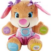 Интерактивная мягкая игрушка Умный щенок Fisher Price девочка