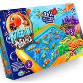 Кинетический песок 2в1 Клёвая Рыбалка и KidSand Danko toys krks-01-01
