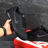 Кроссовки сетка Nike Free RN black