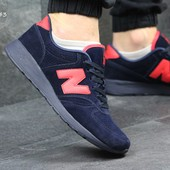 Кроссовки New Balance 420 dark blue, замш