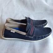 Max новые шикарные замшевые туфли мокасины 42р. Самая низкая цена