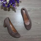 36,5 24см Ara Замшевые туфли на небольшом каблуке