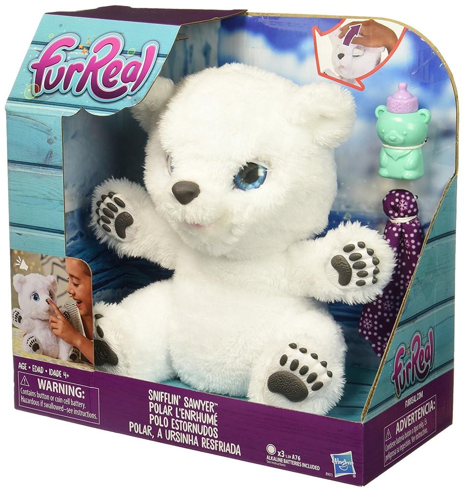 Интерактивный полярный медвежонок furreal friends snifflin sawyer hasbro фото №1