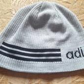 Тёплая фирменная шапка Adidas р.58-60
