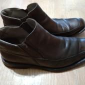 Фирменные кожаные полуботинки UK 9 G Clarks