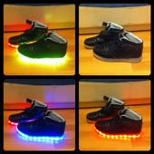 Крутые светящиеся кроссовки LED Fashion (р.43)