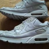 Кожаные фирменные кроссовки для работы Nike Air Max р.45-29см.