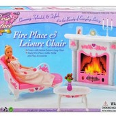 Мебель Gloria 2618 софа, камин, столик, аксессуары, в коробке 33*21,5*5,9см