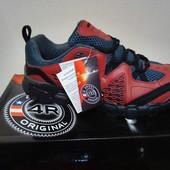 Кроссовки мужские треккинговые дышащие 4Rest USA черные с красным 44р