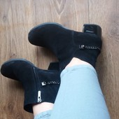 Распродажа!!! Новые демисезонные ботинки 38 размера из натуральной замши