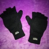 размер М теплые мужские перчатки без пальчиков Matalan (Маталан)