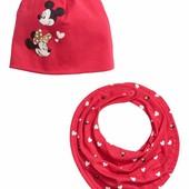 Деми шапка и шарф-воротник от H&M Mickey and Minnie 74-80 на 1-2 года